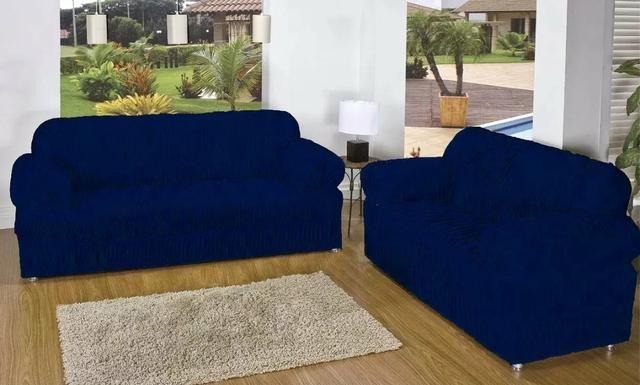 Capa de sofá de 3 e 2 lugares