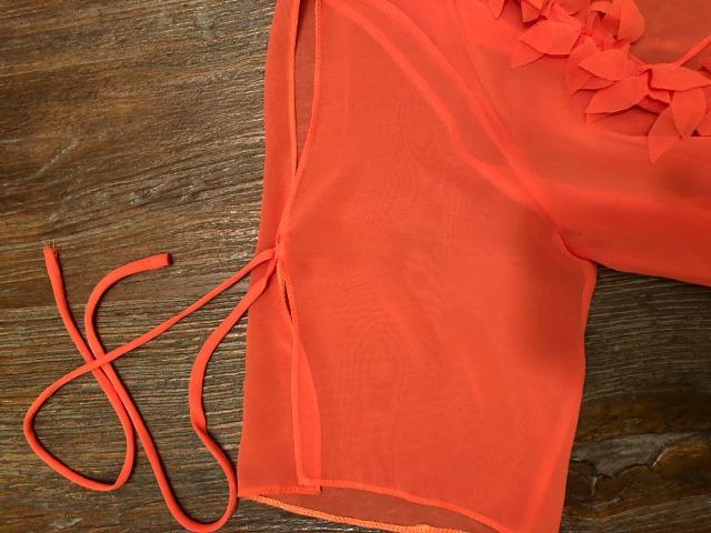 Conjunto regata e cardigan, em crepe cor laranja, tamanho M, ideal para festas - Foto 4