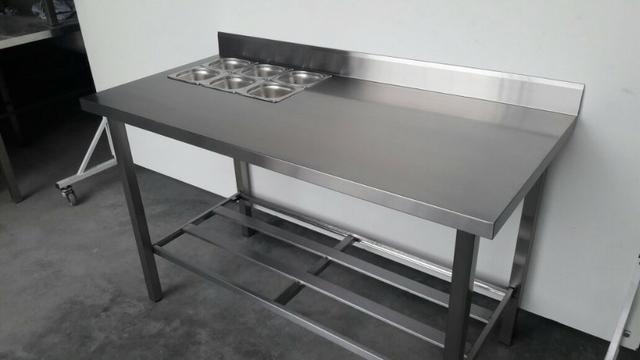 Mesa inox com condimentadora embutida - produto novo - Foto 2