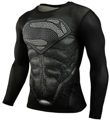 Camisa Compressão musculação Herois Batman Spider Super Homen Pantera Negra Invernal 3D - Foto 3