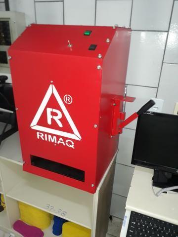 Maquina de fabricar chinelo rimaq automatica