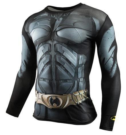 Camisa Compressão musculação Herois Batman Spider Super Homen Pantera Negra Invernal 3D - Foto 4