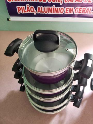 Kit de panela com tampa de vidro - Foto 4