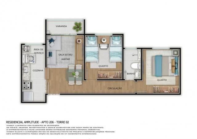 Residencial Amplitude Aptos 38,80 a 48,36m3 1 e 2 Dorms,Sala,Cozinha,Banheiro,com opção de - Foto 17