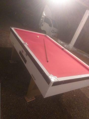 Mesa Gaveta Semi Oficial Cor Branca Tecido Vermelho Mod. LWGW4181 - Foto 2