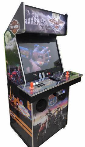 Fliperama Arcade 32polegadas com Karaoke novo tema Harley