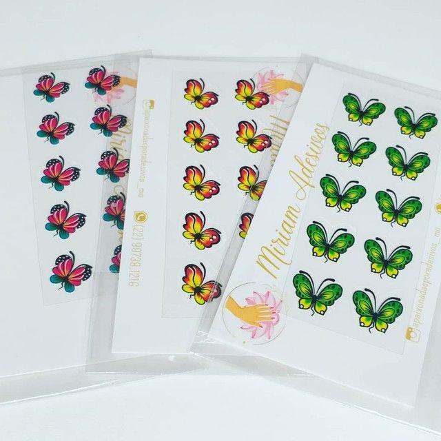 50 cartelas de adesivos 3D
