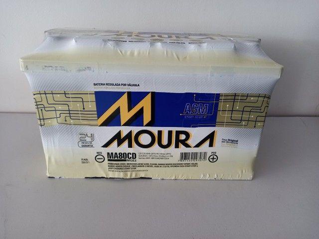 Bateria 80 ah AGM Start Stop Moura