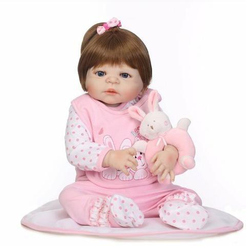 Bebê reborn menina silicone Pronta entrega