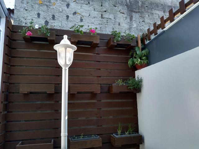 Jardim vertical, decks, divisórias