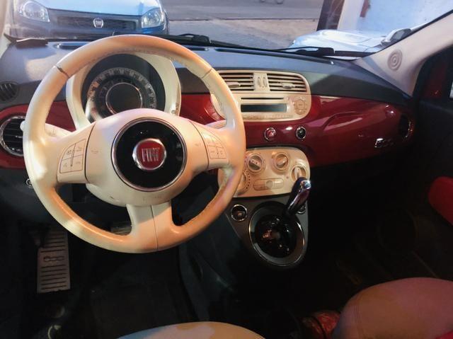 Fiat 500 2013 cult dualogic 1.4 completo revisado baixa km - Foto 8