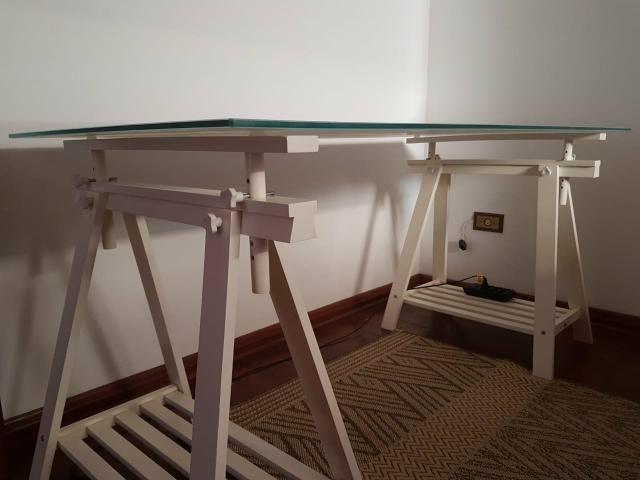 Mesa de trabalho de vidro - Foto 2