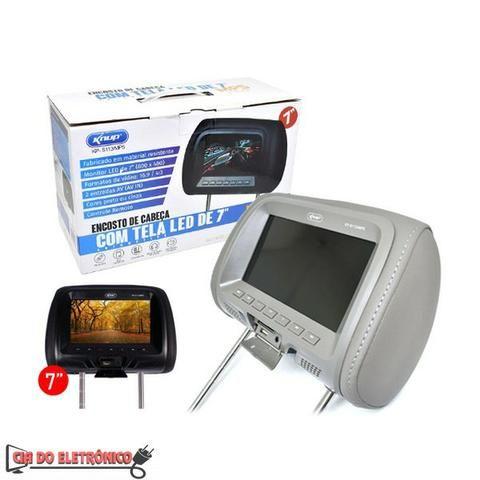 "Dvd Encosto de Cabeça Monitor c/ Tela 7"" USB (KP-S113/MP5)"