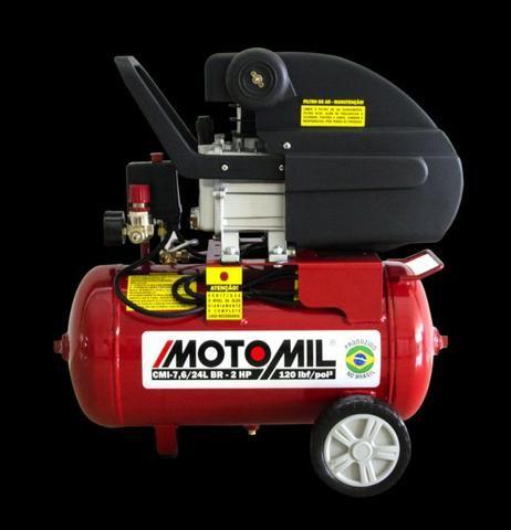 Compressor de Ar Hobby CMI-7,6/24BR 2CV 220V - Motomil (Loja) - Foto 2