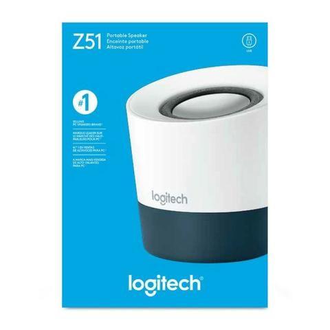 Caixa de Som Logitech Z51 Branco/Cinza - Loja Fgtec Informática - Foto 3