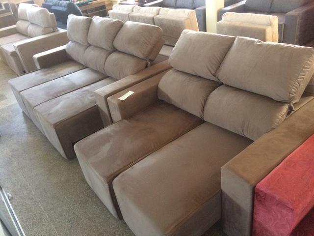 Sofá conjunto 3 e 2 lugares retratil e reclinável - Foto 3