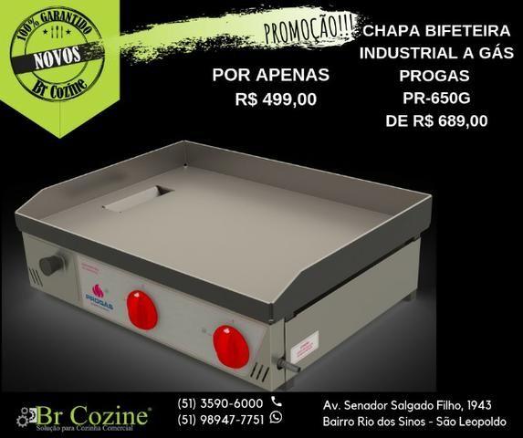 Promoção!!! Chapa bifeteira PR-650G Progas / Br Cozine
