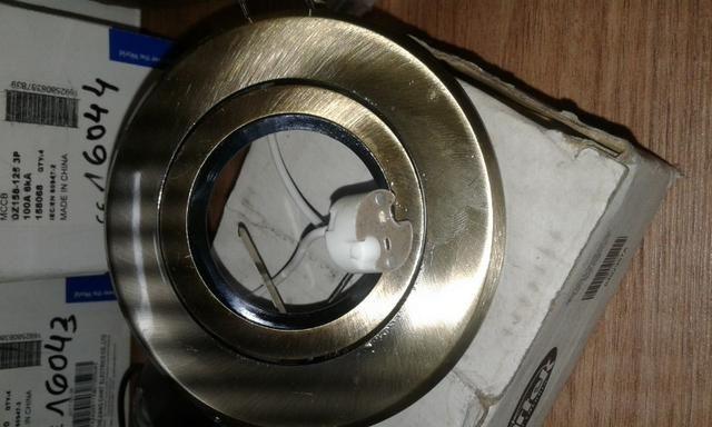 Spot de ferro com soquete sem lâmpada