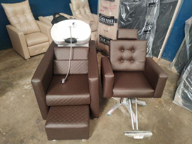 Cadeira hidráulica salão beleza *** fábrica de móveis pra salão de beleza - Foto 2