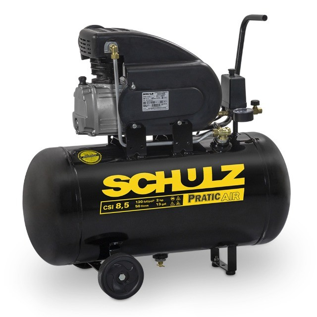 compressor de 50/25 litros pistao schulz