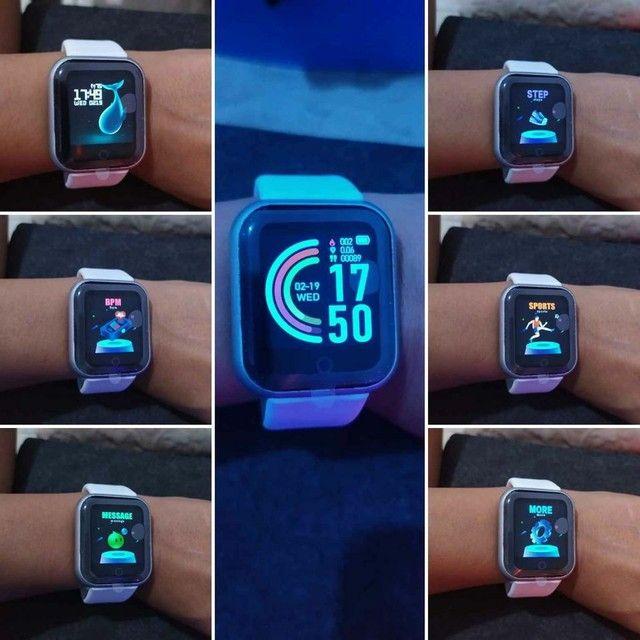 ?Promoção?Y68 D20 Relógio Smart Watch com Bluetooth USB com Monitor - Foto 4