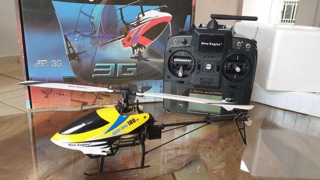 Helicóptero controle remoto  6 canais Nine Eagles pro 180