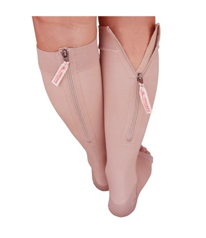 Meia 3/4 Venosan Comfortline Cotton- curta -com ziper - 20-30 mmHg
