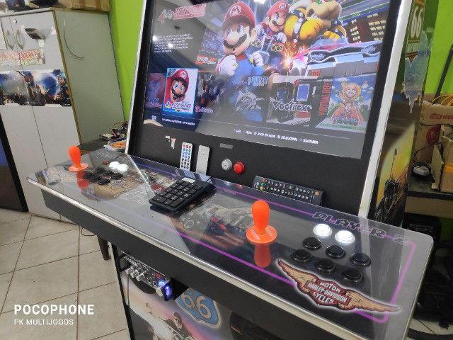 Fliperama Arcade 32polegadas com Karaoke novo tema Harley - Foto 5