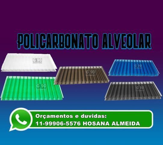 Chapa Policarbonato Alveolar 1050 x 6000 x 4 mm