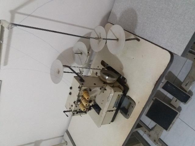 Maquina de costura galoneira semi-industrial 3 agulhas