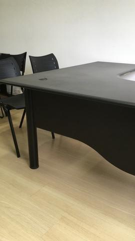 Mesas em L para escritório pretas! - Foto 5
