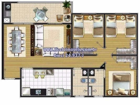 Apartamento com 2 dormitórios à venda, 67 m² por r$ 290.000,00 - parque industrial - são j - Foto 6