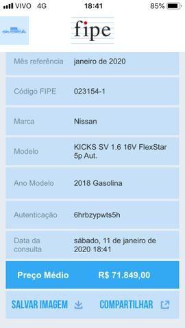Nissan Kicks Sv 1.6 16v FlexStar 5portas Aut Preto Banco de Couro - Foto 12