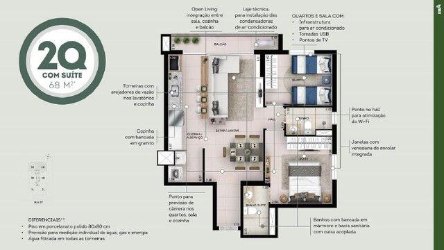 360 Oeste EBM - Apartamento 2 Quartos com Suíte - Setor Oeste Goiânia - Foto 5