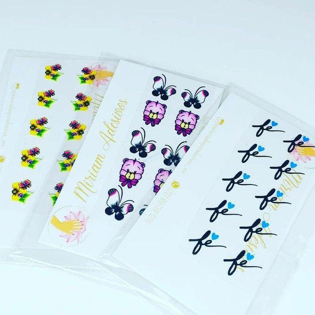 50 cartelas de adesivos 3D - Foto 3