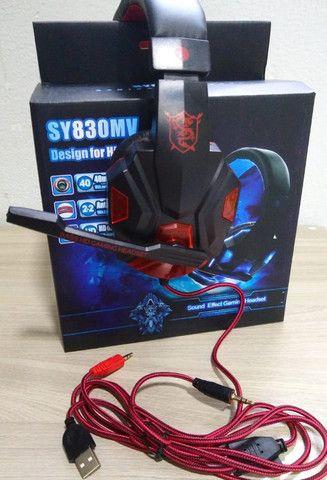 Fone Ouvido Headset Gamer vermelho
