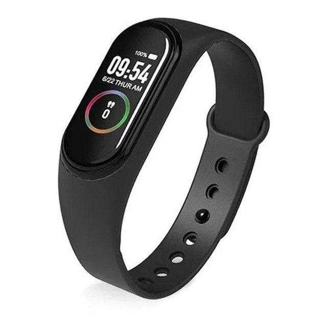 ?Promoção?Relógio Inteligente M4 Smartwatch Bluetooth/Coloca Foto - Foto 2