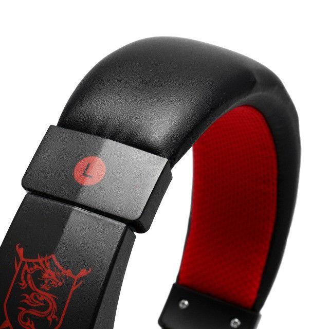 Fone Ouvido Headset Gamer vermelho - Foto 5