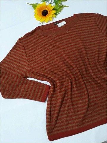 Blusa de Tricô Feminina Luciana - Tamanho GG - Linha Plus Size - Foto 2