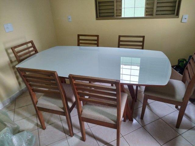 Mesa de madeira toda pronta entrega  - Foto 3