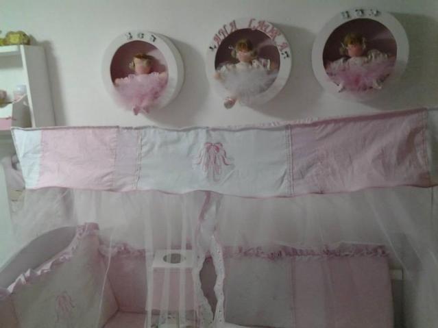 Enfeite porta de maternidade nicho boneca bailarina rosa  ~ Tipos De Nichos Para Quarto