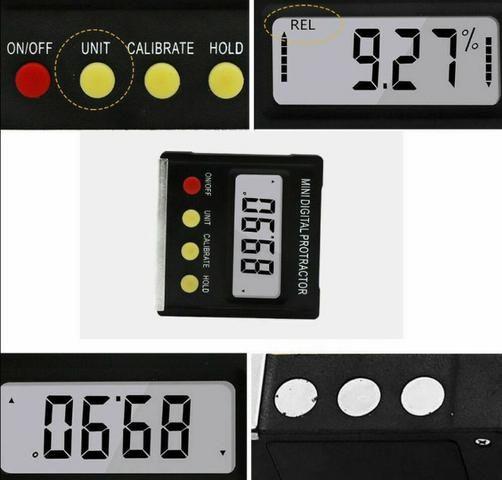 COD-AP54 Inclinômetro Digital Transferidor Medidor De Ângulos Automação Robotica - Foto 3