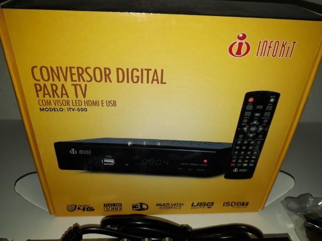 Conversor Digital para TV com visor de Led HDMI e USB Infokit ITV-500 - Foto 6