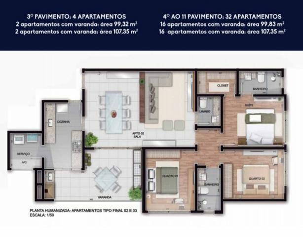Apartamento na Planta - Avenida Humberto Pizzo - Varginha MG - Foto 8