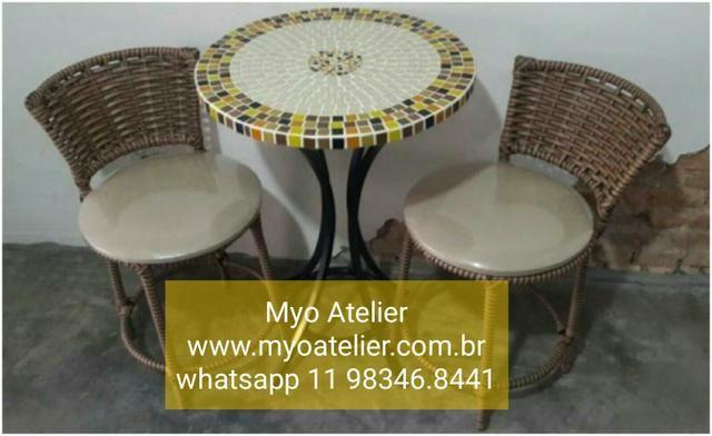 Conjunto mesa mosaico direto da fabrica