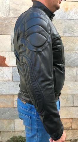 Jaqueta Masculina de Couro Motociclista 019 - Foto 4