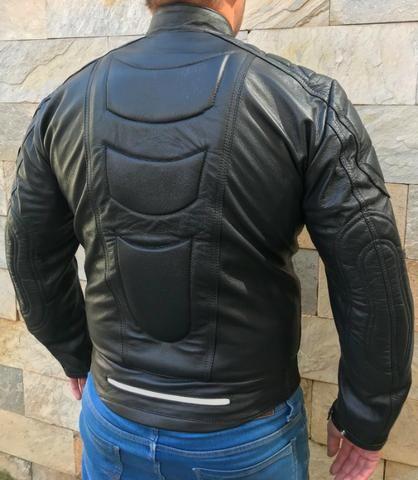 Jaqueta Masculina de Couro Motociclista 019 - Foto 2