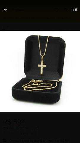 Lindo colar Garagantilha banhada a ouro 18k  - Foto 2