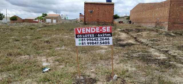 VENDO 03 LOTES MEDINDO 6x21 - Foto 2