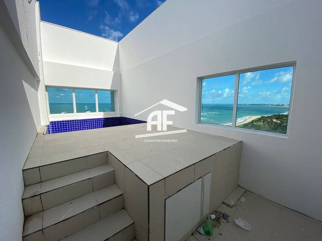 Cobertura nova com Vista total e ampla na beira mar da praia de guaxuma - Foto 10